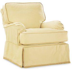 Slipcovered Swivel Chair swivel glider chair Pinterest