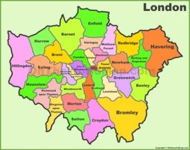 Maps of Everything for London this is the boroughs map