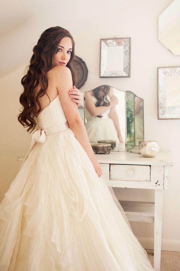 I Like The Braid Crown Vestidos De Noiva De Baile Vestido