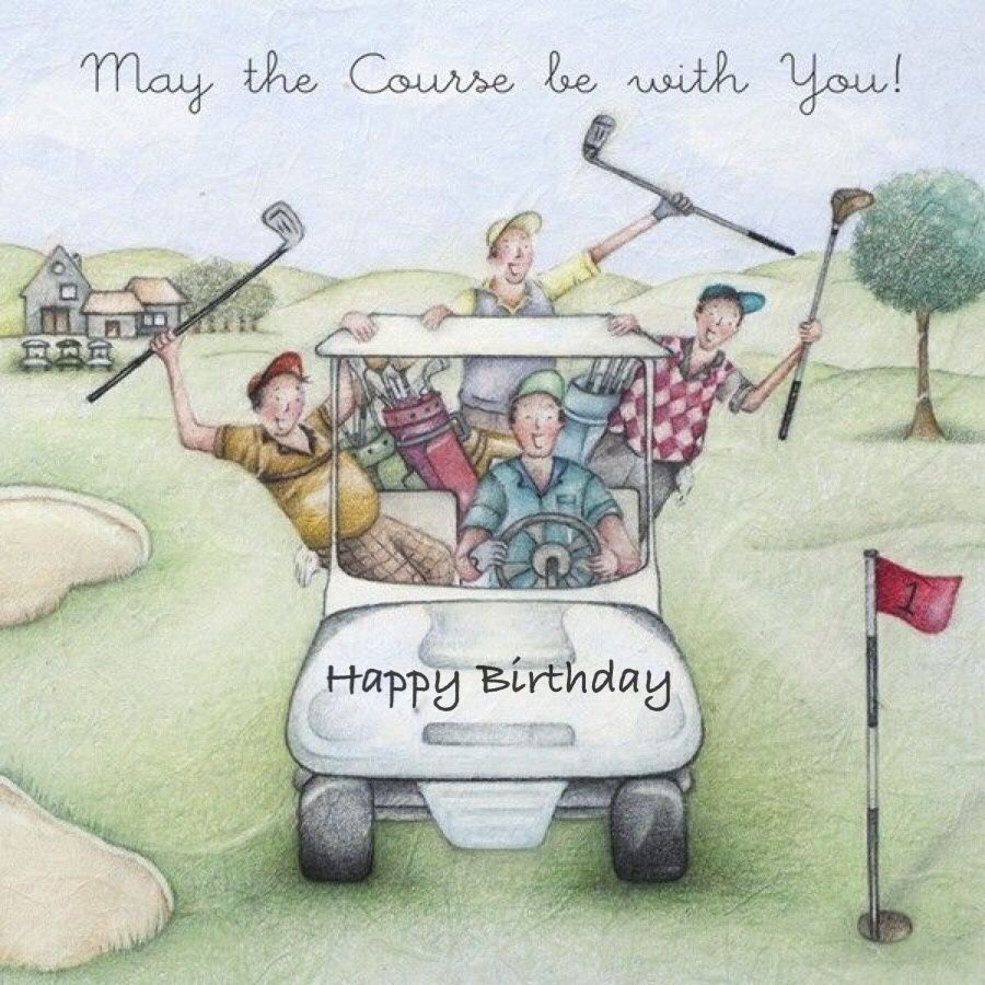 Happy Birthday May The Course Be With You Golfer