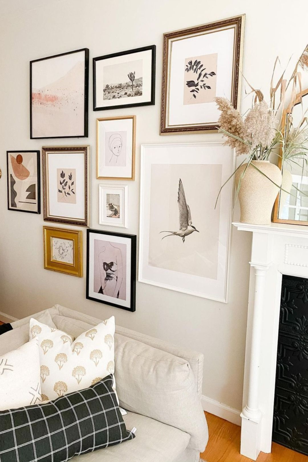 Gallery Wall With Juniper Print Shop In 2021 Gallery Wall Living Room Home Home Living Room