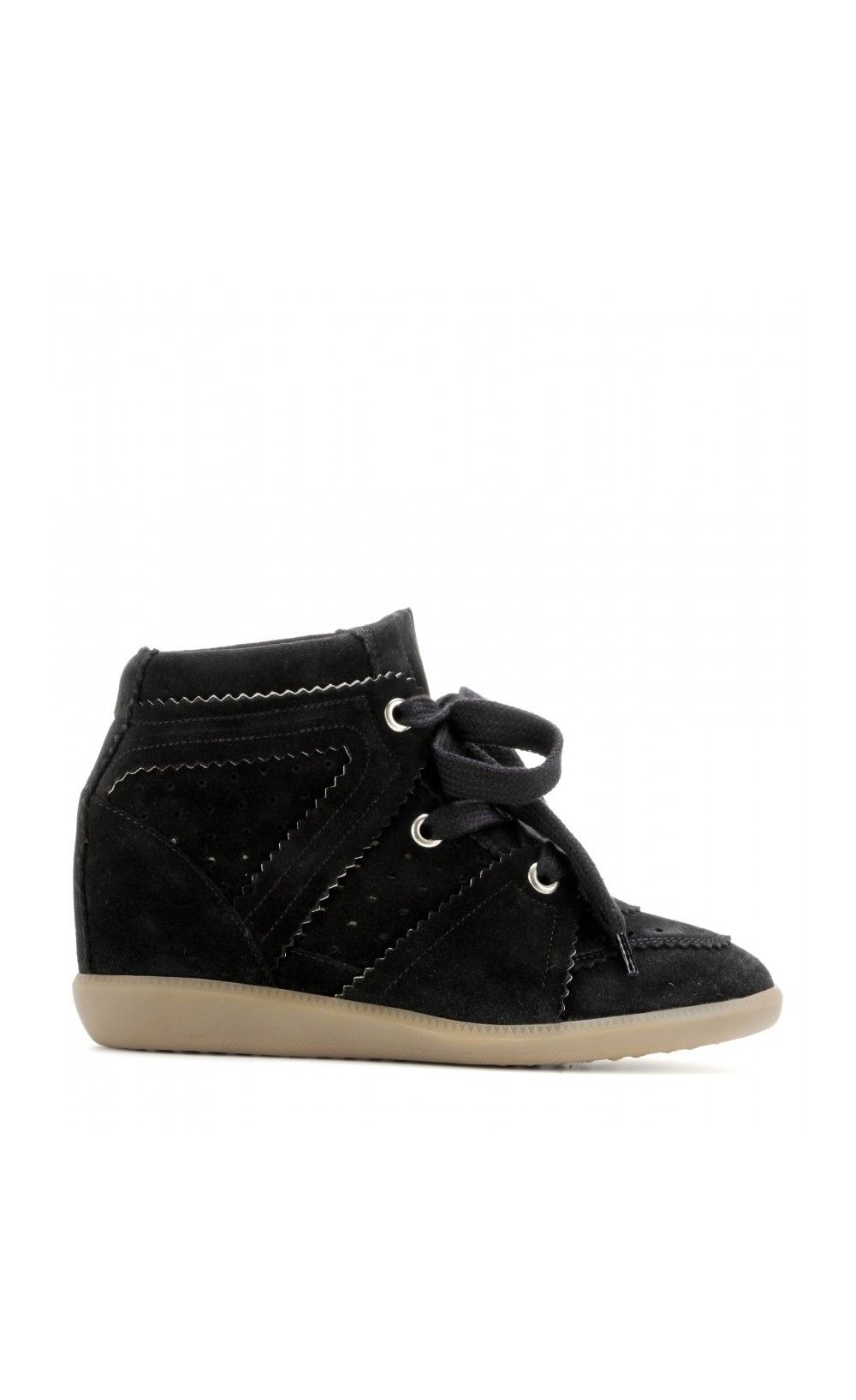 190f506d6447 Isabel Marant Bobby Suede Wedge Sneakers Trainers Black - Isabel Marant  IM   Wedges  Sneakers