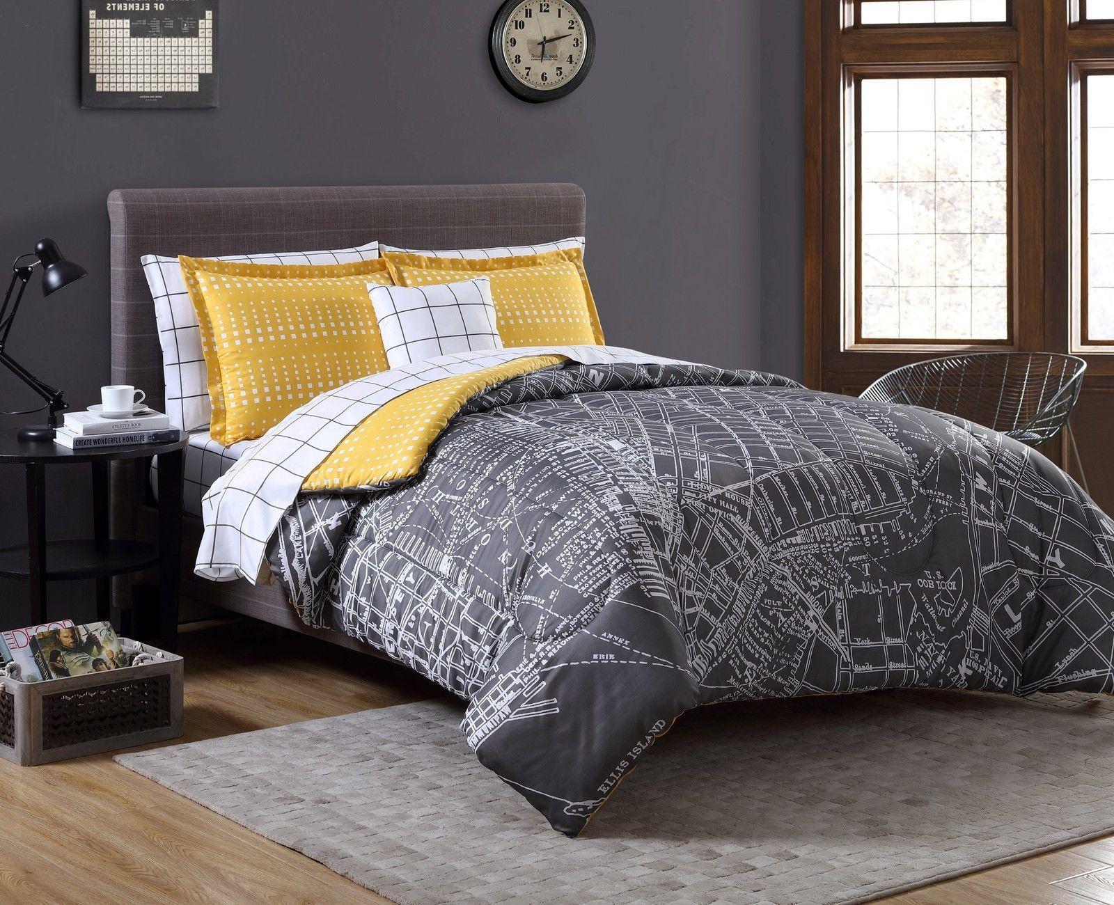 details about 6 piece twin xl complete bedding comforter set modern