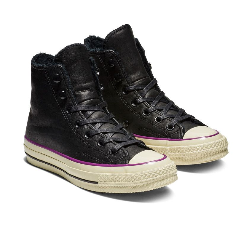 Leather high tops, Converse
