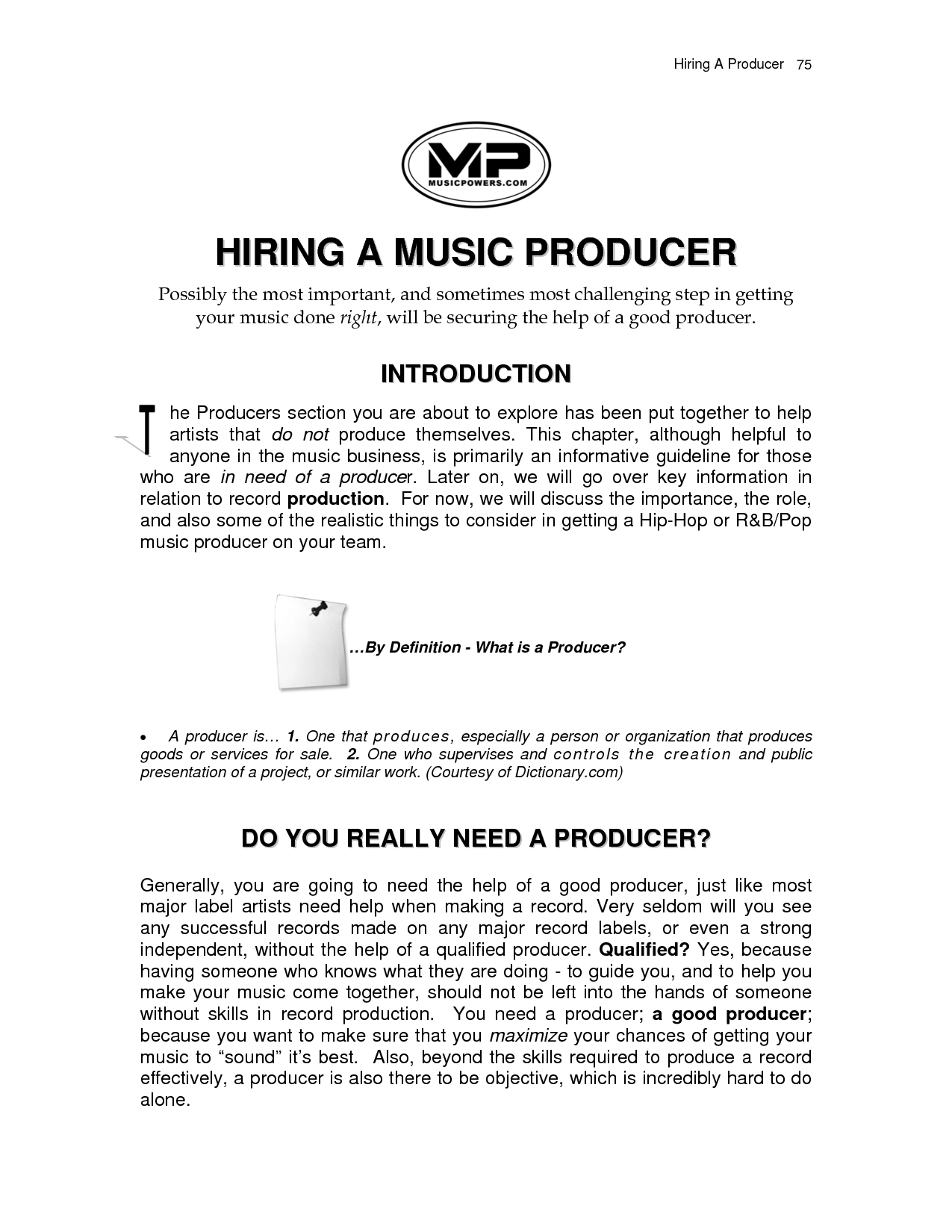 Producer Label Music Producer Record Label Contract By