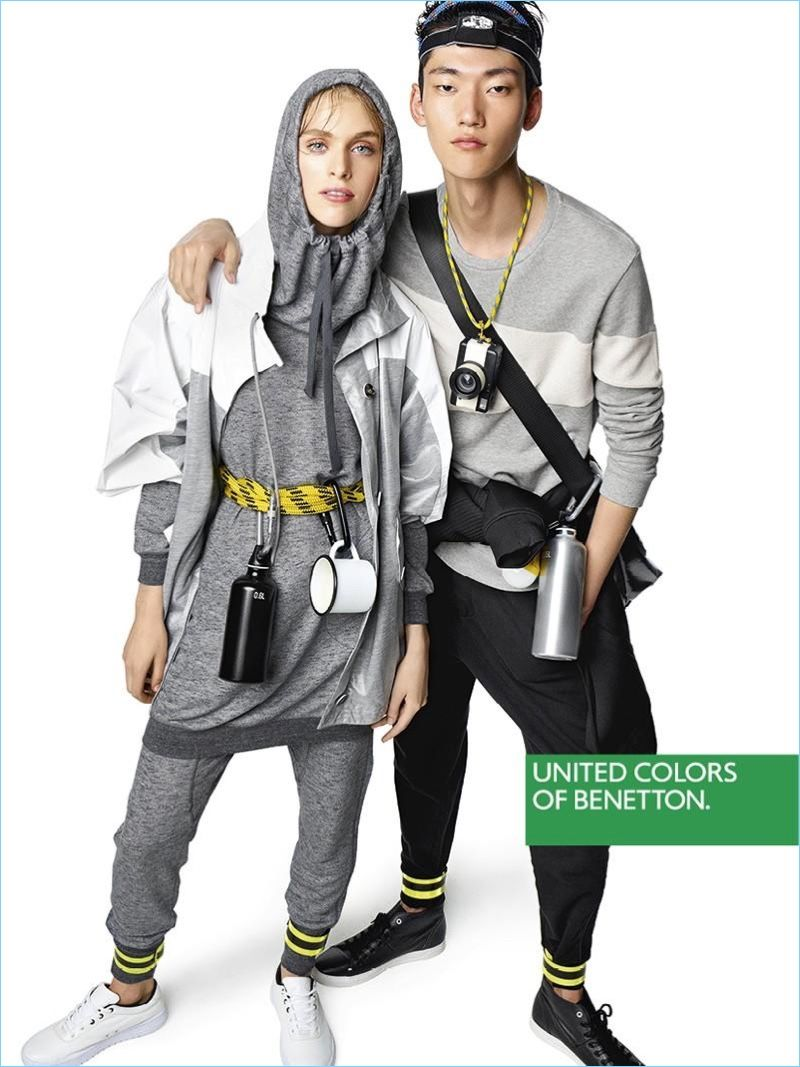 Going Sporty Hedvig Palm And Yong Soo Jeong Star In United Colors Of Benetton S Spring 2017 Campaign
