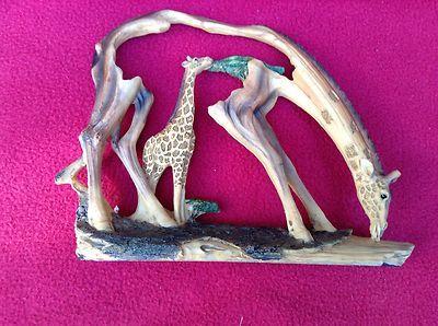 Giraffe Africa African Animals Animal Giraffes Carving Figurine Figure Bd 10240