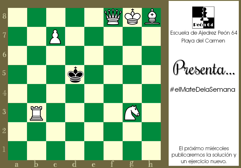 Mate en 2, blancas juegan y ganan. Compositor: F. Abdurahmanovic, 1958.