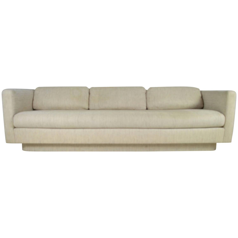 Maurice Villency Floating Modern Three Seat Sofa