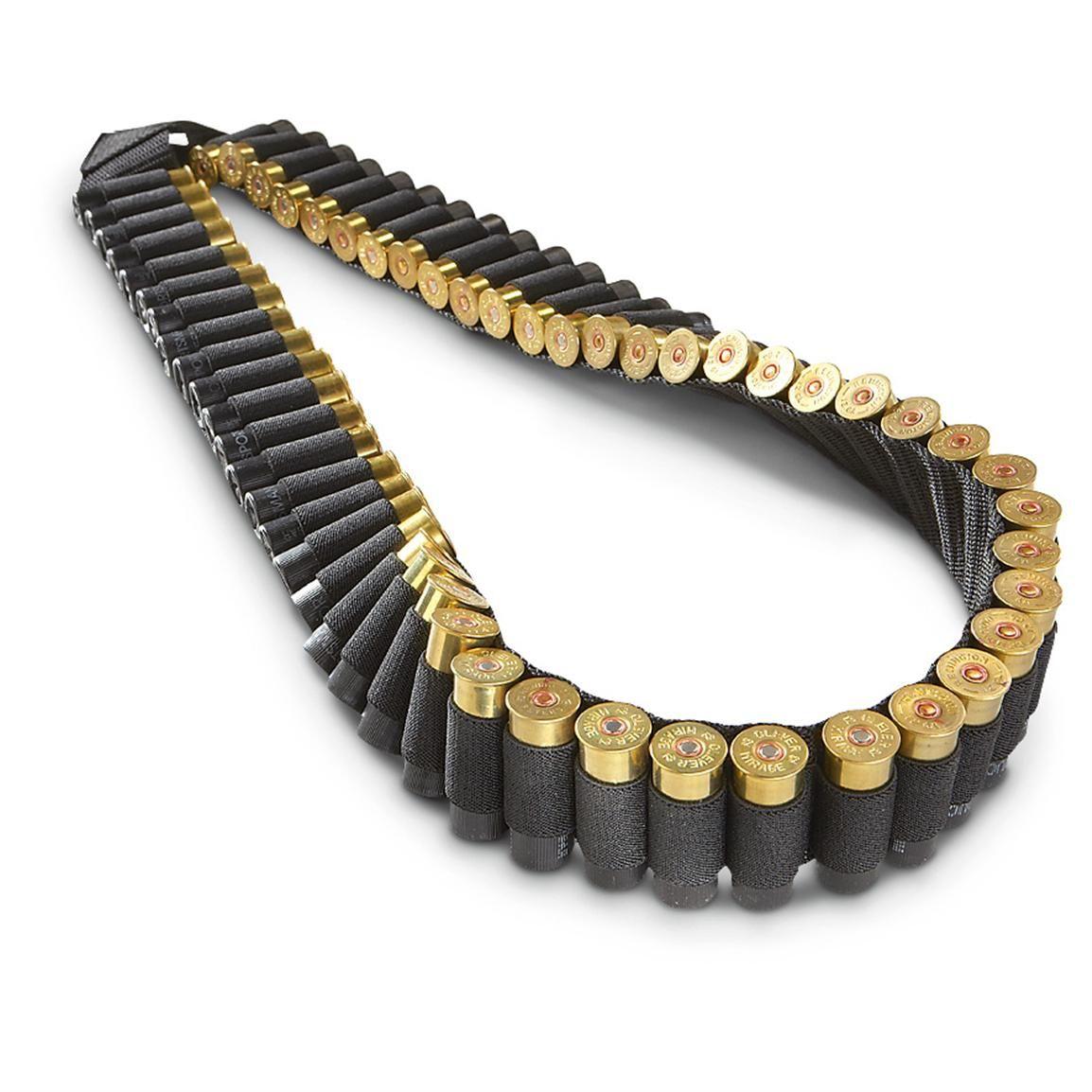 Tactical 50 Rounds Shotgun 12 20GA Gauge Bandolier Shell Holder Ammo Belt Sling