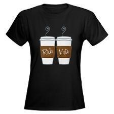 Castle Morning Coffee Women's Dark T-Shirt