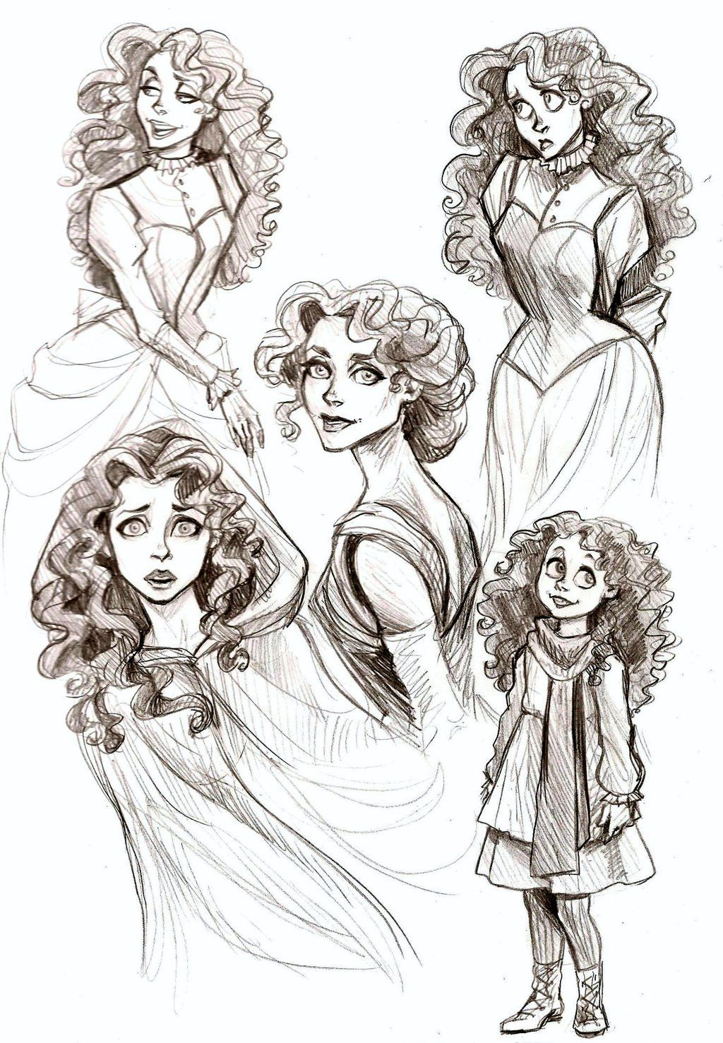 Christines by Muirin007.deviantart.com>>I like this loose, sketchy look.