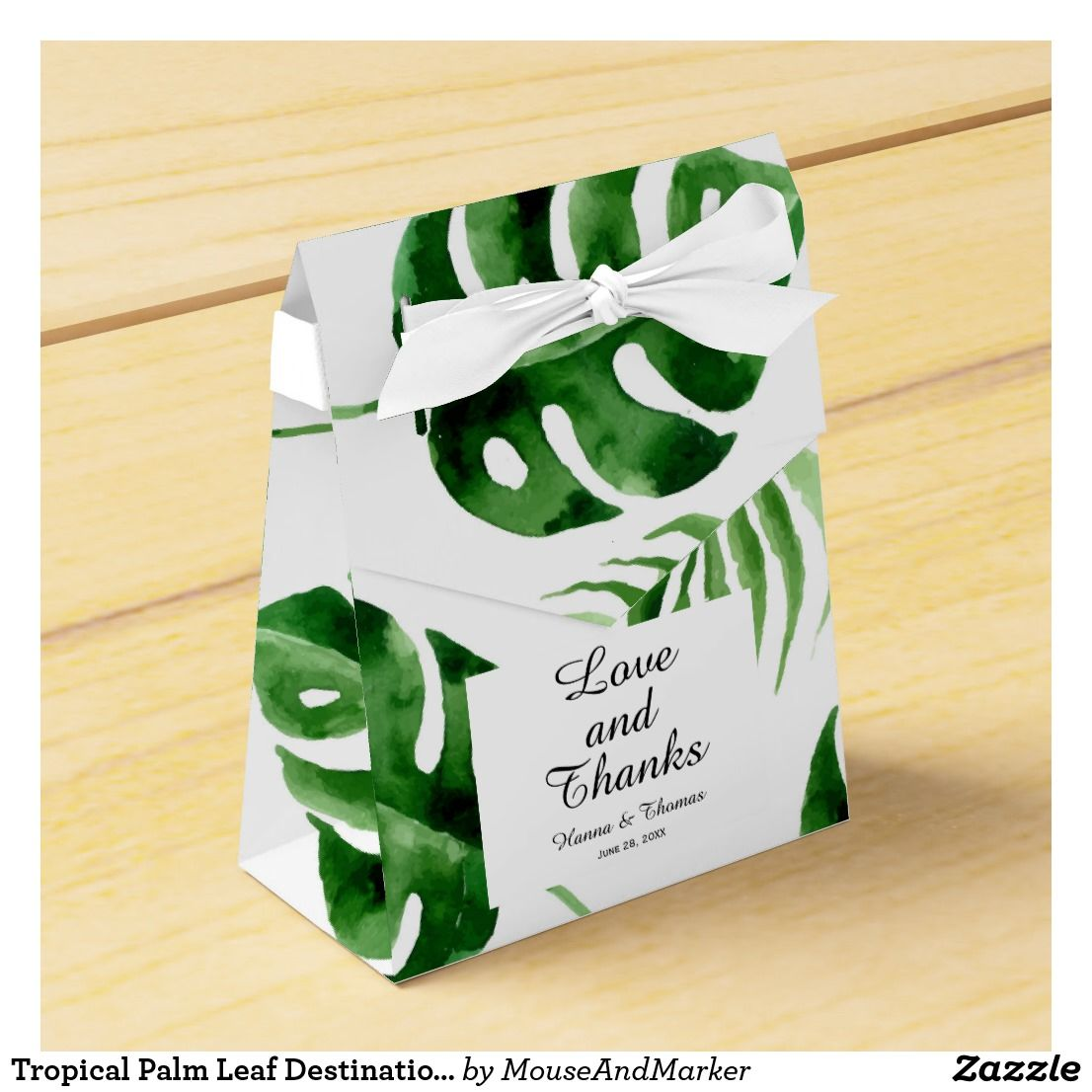 Personalised Mini Favor Box Gold Safari Animals Jungle Birthday Party Bag Leaf