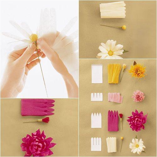 Flores de papel sencillas para hacer con ni os y decorar - Papel para decorar ...