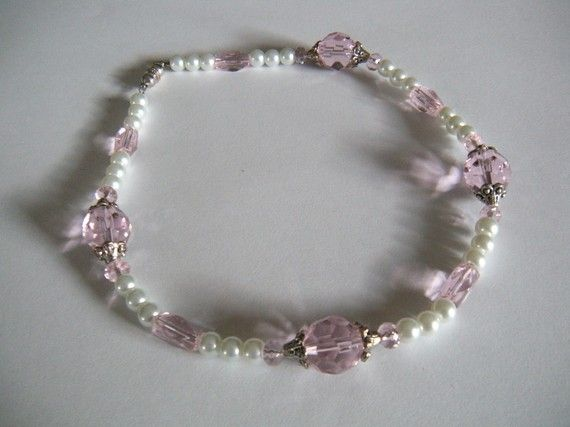 Exquisite Pet Necklace in pink crystals and by AllAboutElegance, $40.00