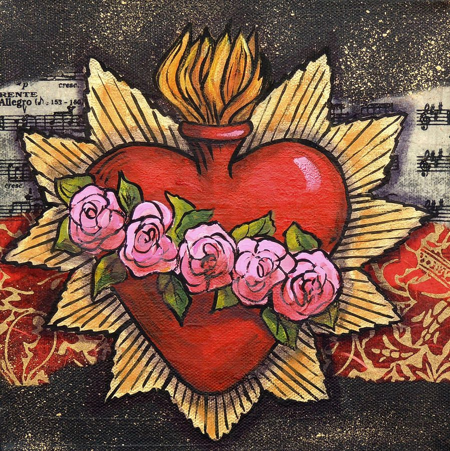 Sacred Heart No 1 By Candy Mayer Sacred Heart Art