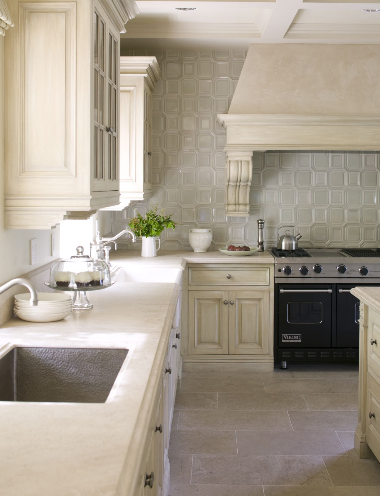 You had us at ceramic tile backsplash by Walker Zanger