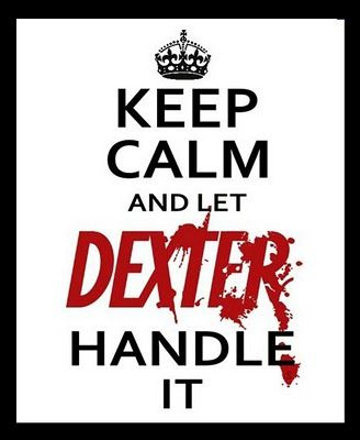I have a crush on Dexter Morgan. BIG one &&& he's the monster who scares monsters away.