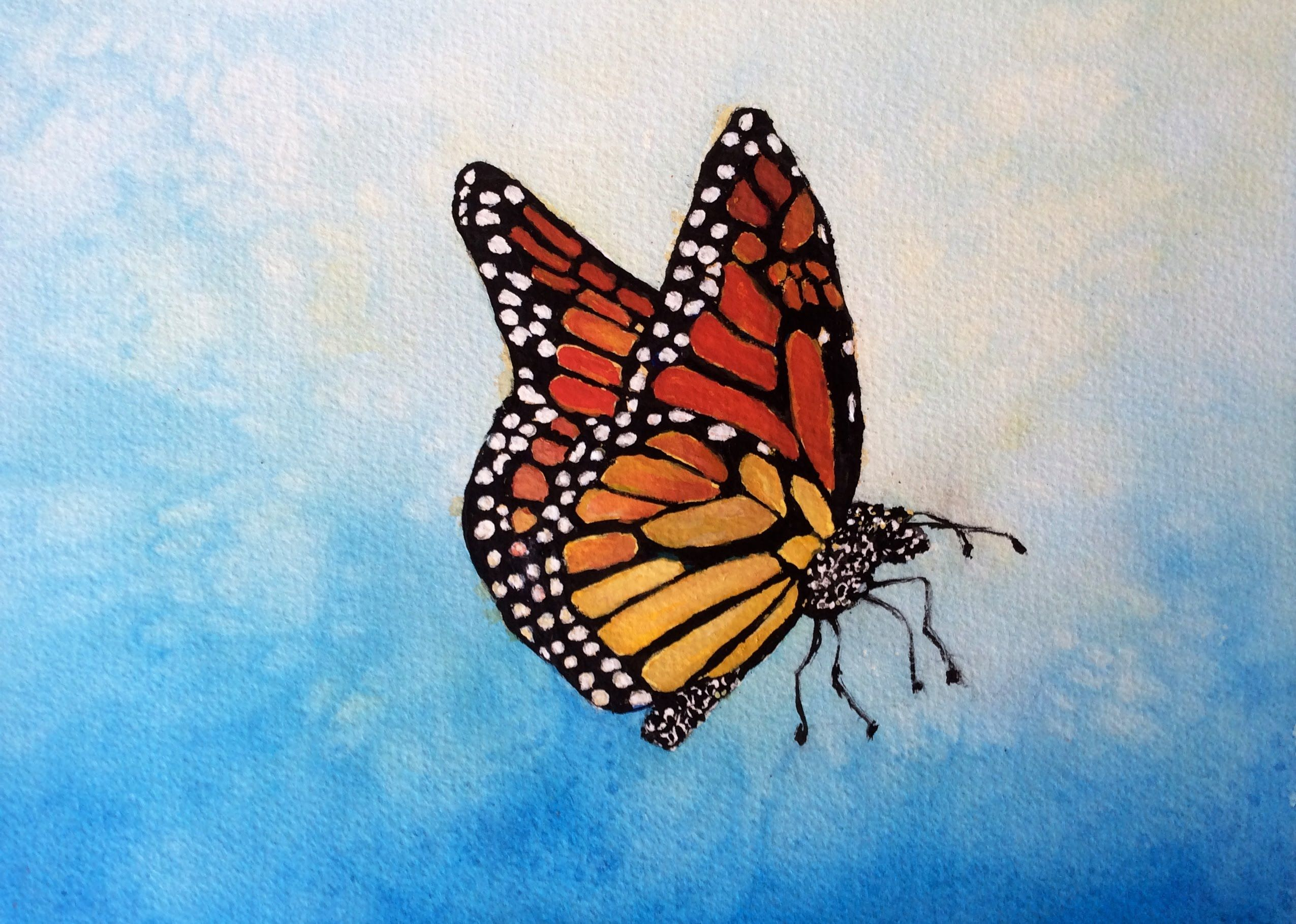 How To Paint A Monarch Butterfly With Watercolor Step By Step