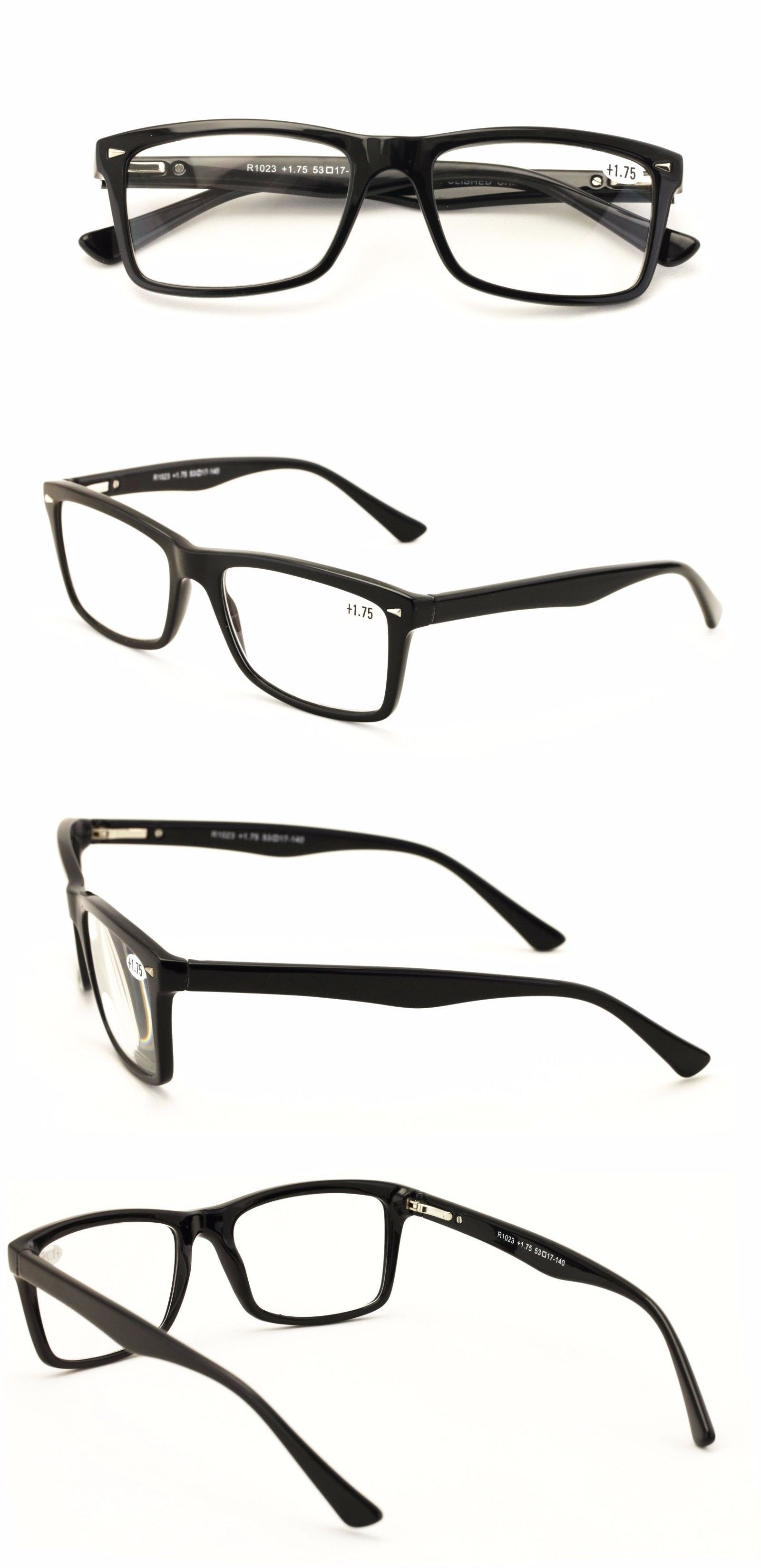 470a73ac6dec Reading Glasses 67670  Men Gloss Black Rectangle Rectangular Reading Glasses  Clark Kent Reader Tr90 -  BUY IT NOW ONLY   11.95 on eBay!