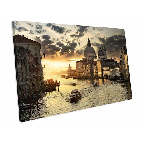 Photo of East Urban Home canvas picture Venice at sunset Wayfair.de
