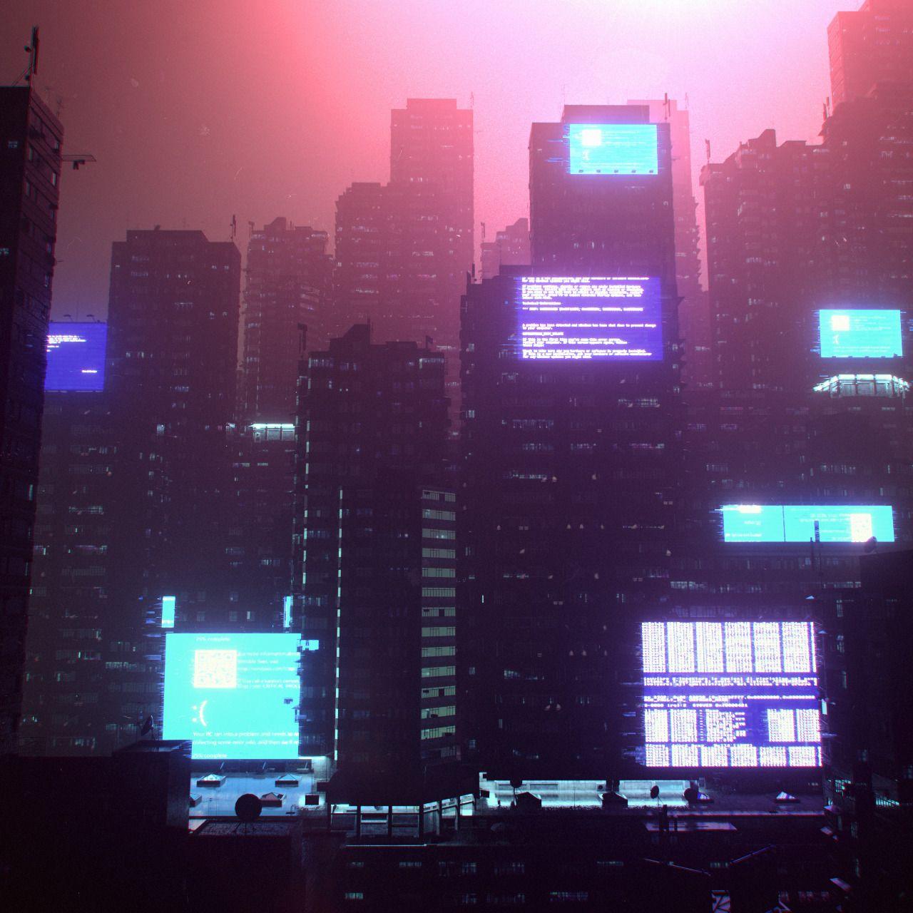 Unix Glitch 2038 - [DAY_933]Future Slums kit by: KitBash3d