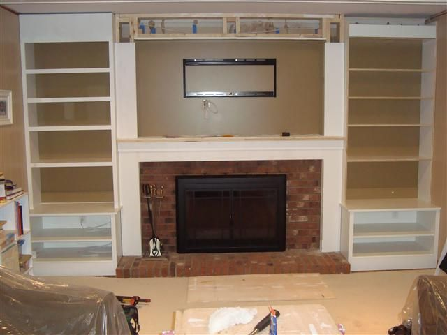 Nebulous Content Non Flammable Shelving Reface Fireplace