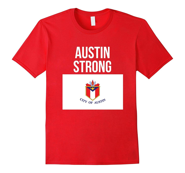 Austin strong hometown pride flag tshirt texas t shirt