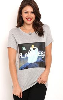 Short Sleeve Drapey Tee with Cinderella Flawless Screen