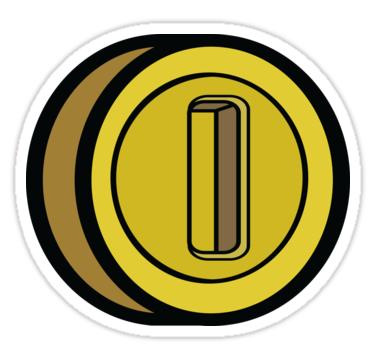 Game Coin Sticker By Mdrmdrmdr In 2021 Stickers Coins Logo Sticker