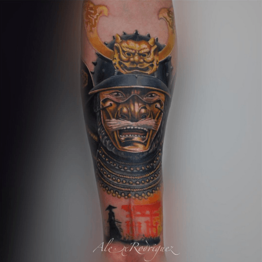 Tattoo by Alex Rodriguez. #Inked #tattoo #samurai #ink #warrior #color