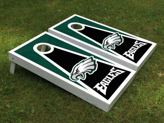 Philadelphia Eagles Triangle Cornhole boards by Cornholetherapy ...