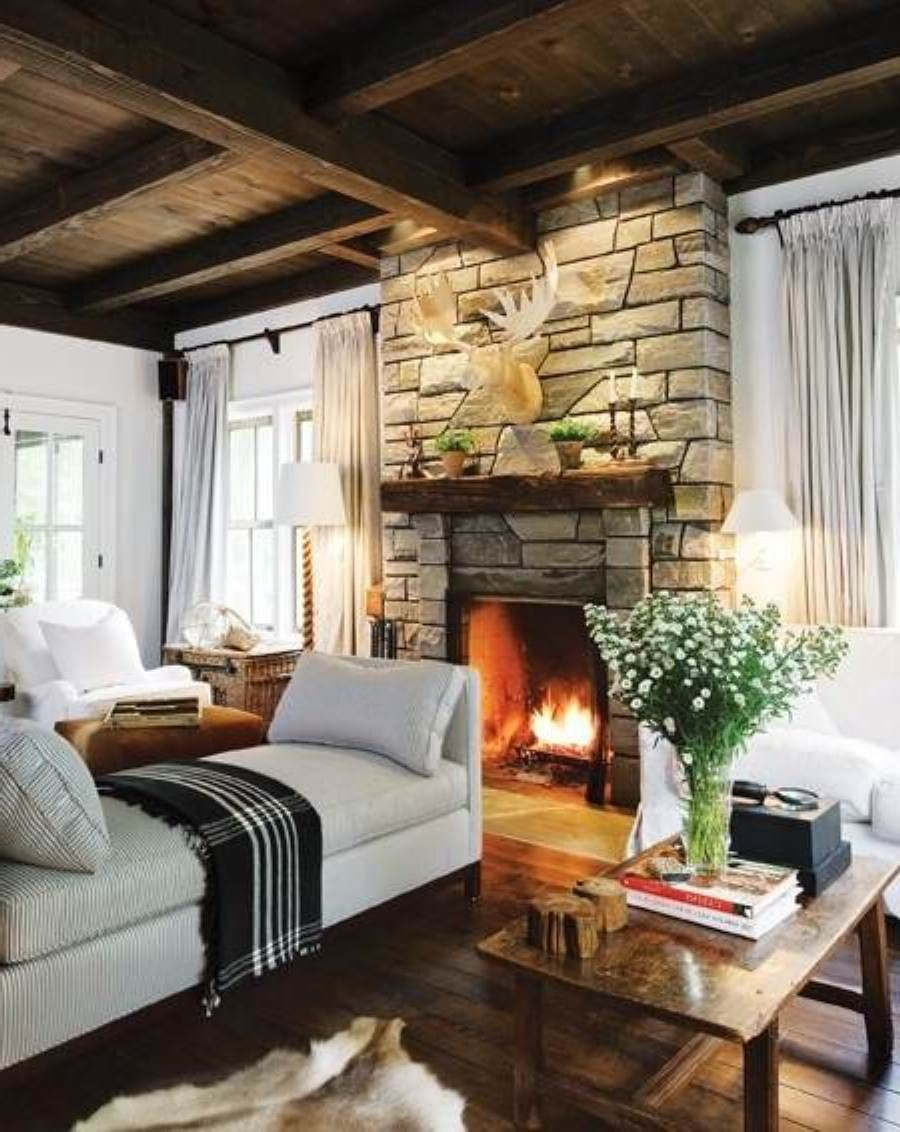 Cozy Romantic Living Room: Warm Cozy Country Style Living Rooms