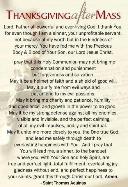st thomas aquinas- thanksgiving prayer after mass - Google