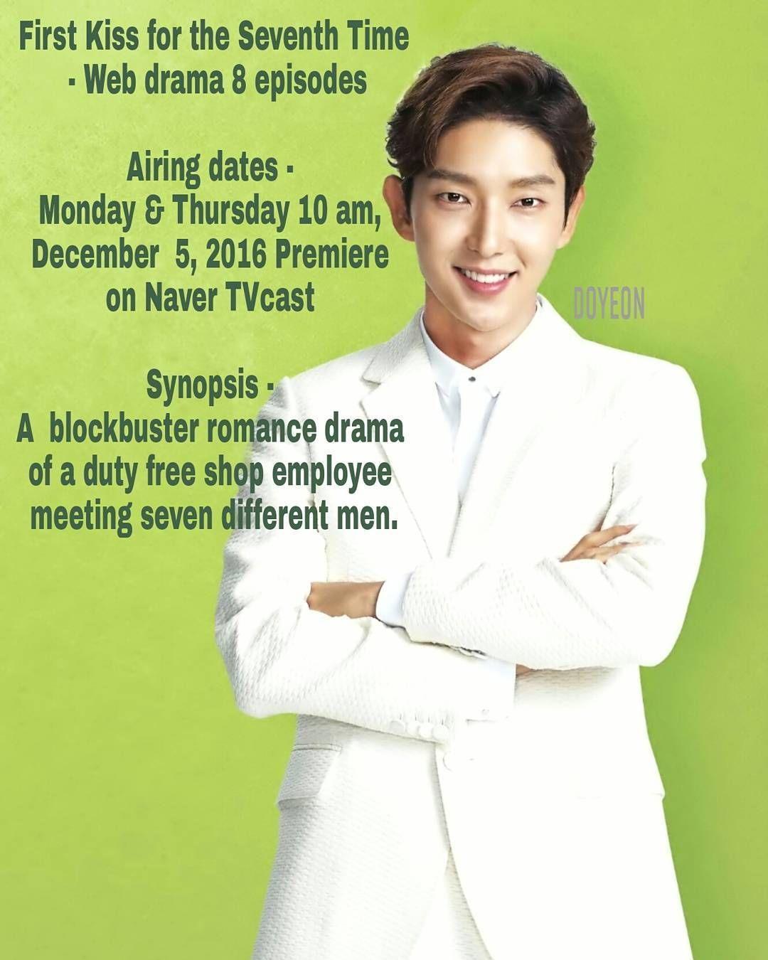 Lee Joon Gi 7 First Kisses On The Air Tomorrow At 10 Am On