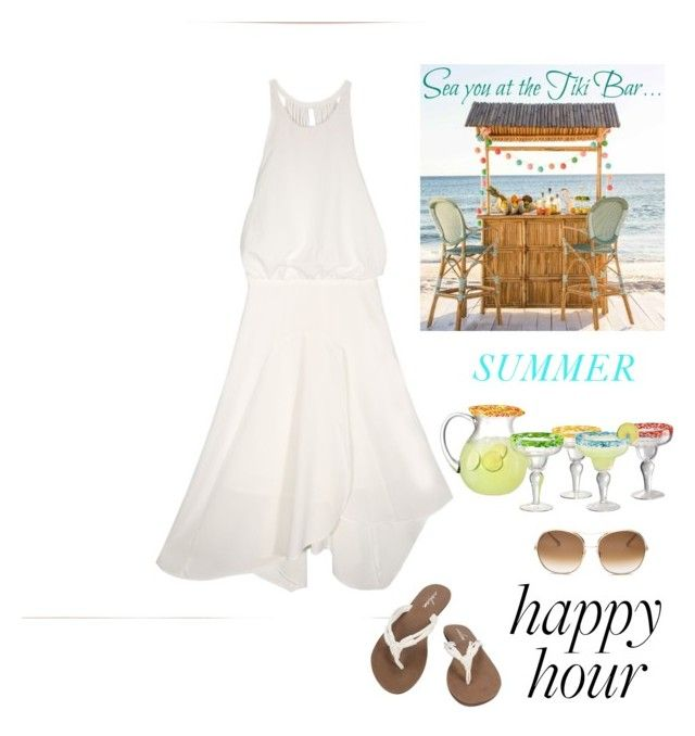 """""""My Favorite Time of the Day 🍹"""" by kotnourka ❤ liked on Polyvore featuring Volcom, Chloé and Artland"""