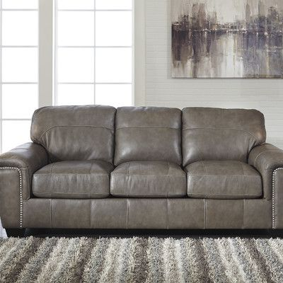Signature Design by Ashley Leather Sofa | Products | Ashley ...