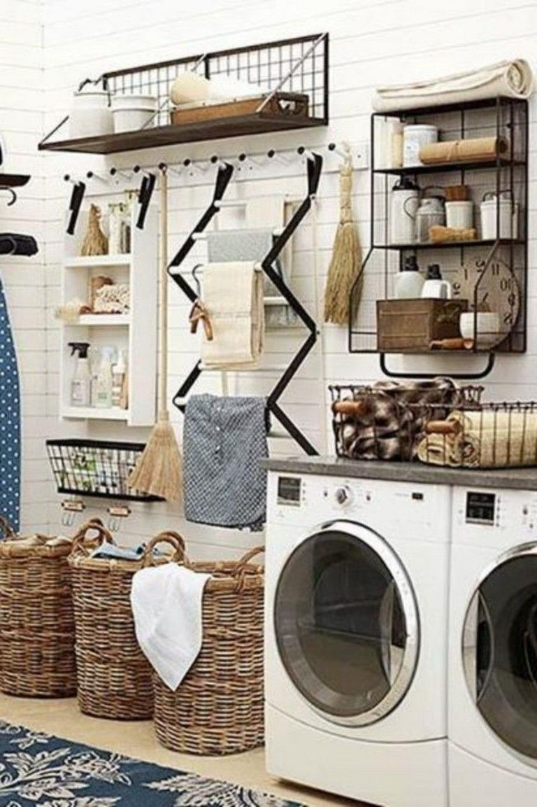 55 Easy And Clever Laundry Room Storage Ideas Laundry Room Remodel Stylish Laundry Room Laundry Room Design