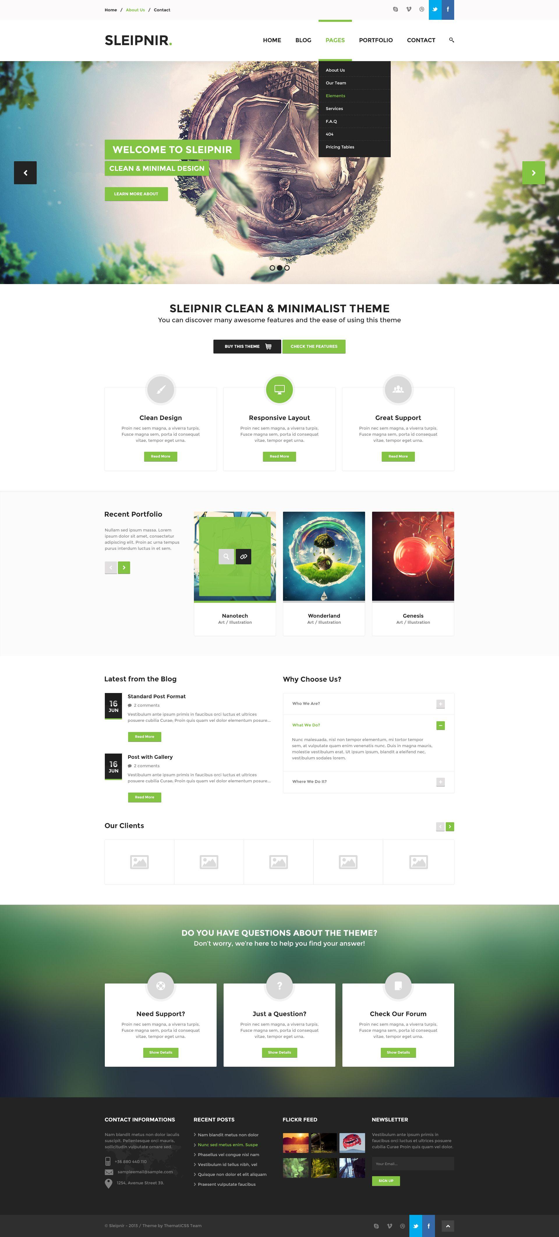 Sleipnir - PSD Template | Design&Web&Graphic | Pinterest