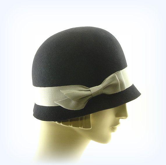 1920s Dark Blue Cloche Hat - Navy Blue Womens Hat  93b498499ca