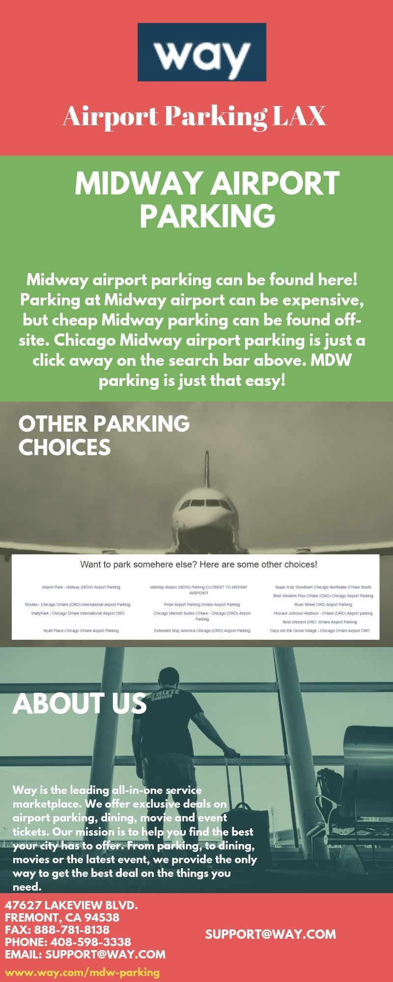 At way midway airport parking provides a highly secure