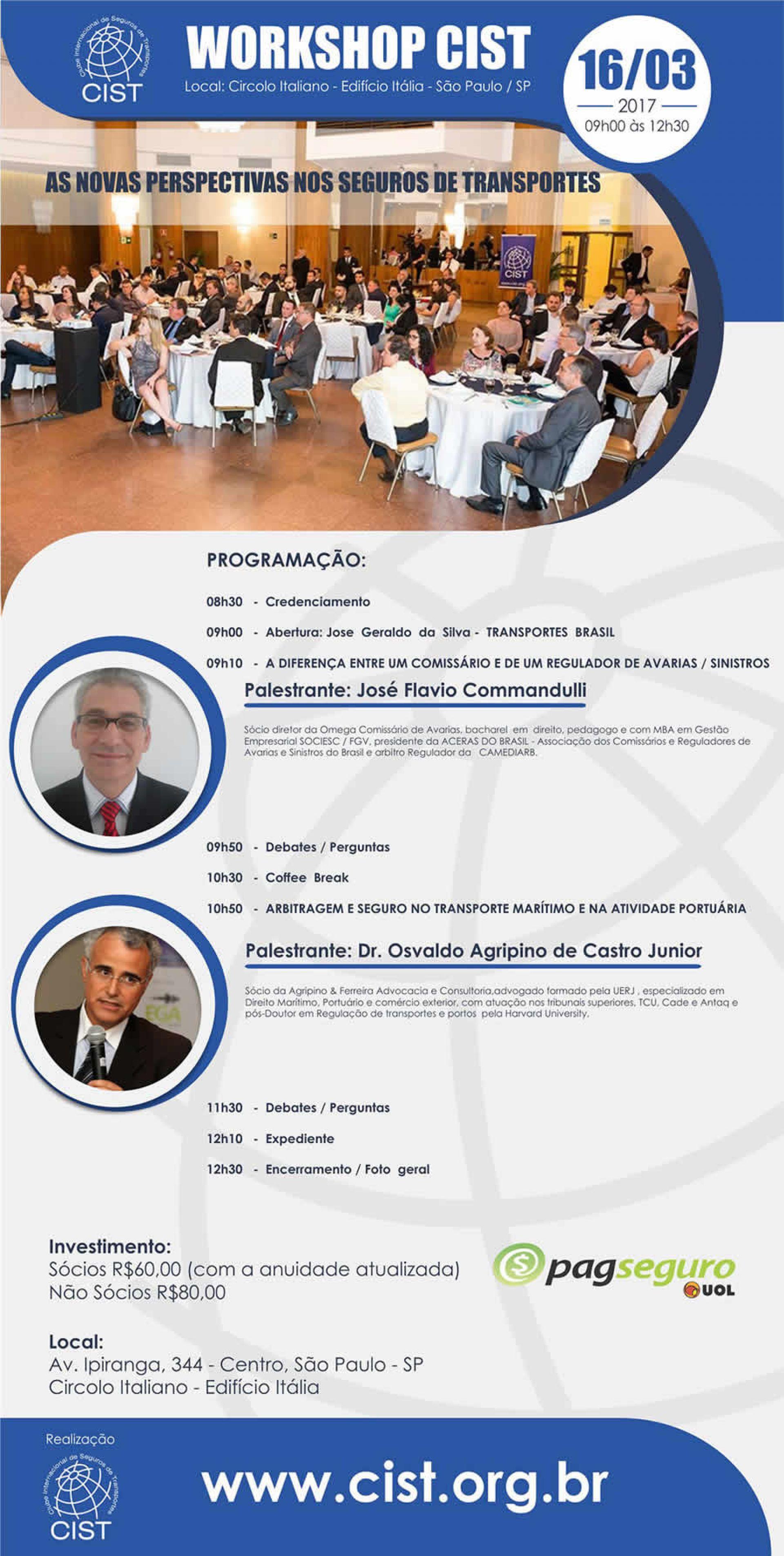 Workshop Cist no próximo dia 16 de março