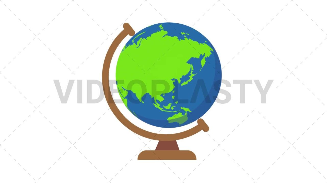 2pwwupa A Spinning Globe With A