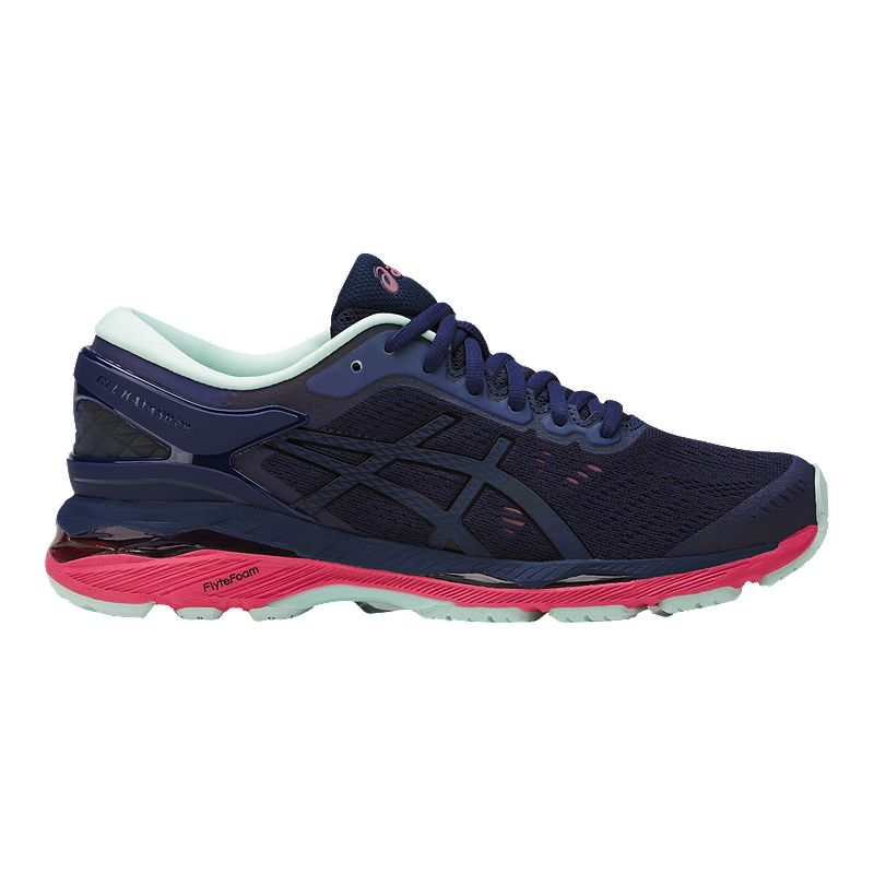 ASICS Women's Gel Kayano 24 LS Running Shoes - Dark Blue ...