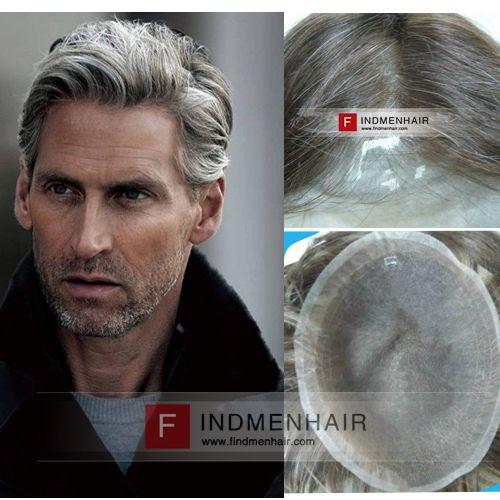 Mixed Grey Color Short Haircuts Old Mens Hair Wigs Calgary