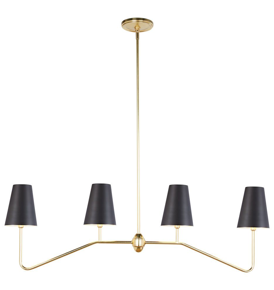 Berkshire Linear Pendant With Metal Shades Glass Chandelier Shades Home Decor Trends Unique