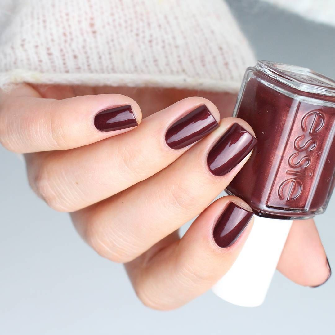 Adorn your nails in a festive glistening bronzed mahogany nail ...