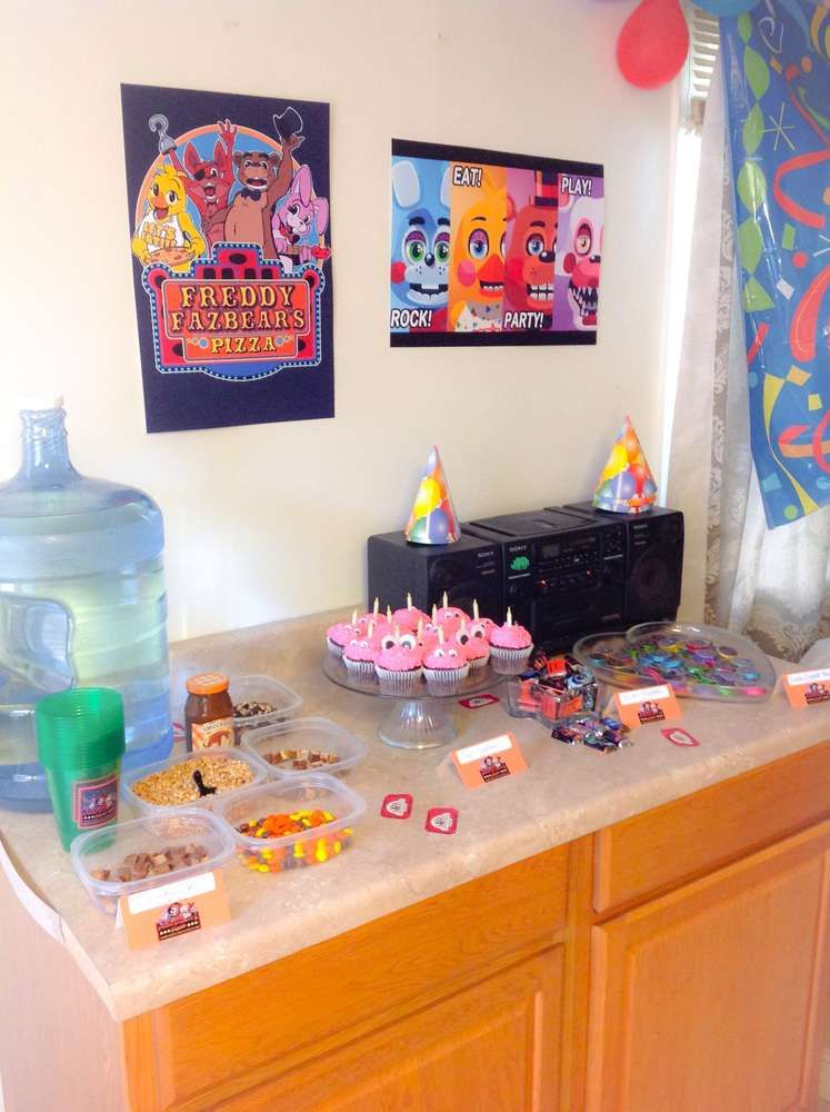 Five Nights At Freddy S Birthday Party Ideas Fnaf Crafts