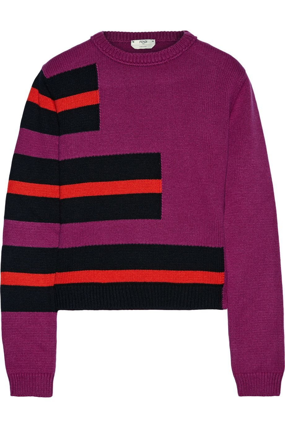 FENDI Striped Cashmere Sweater. #fendi #cloth #sweater | Fendi ...