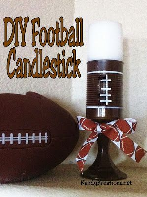 Photo of Make quick and Easy football candlesticks that add a pop of …